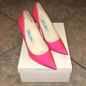 Hot Pink Patent leather Jimmy Choo EEUC